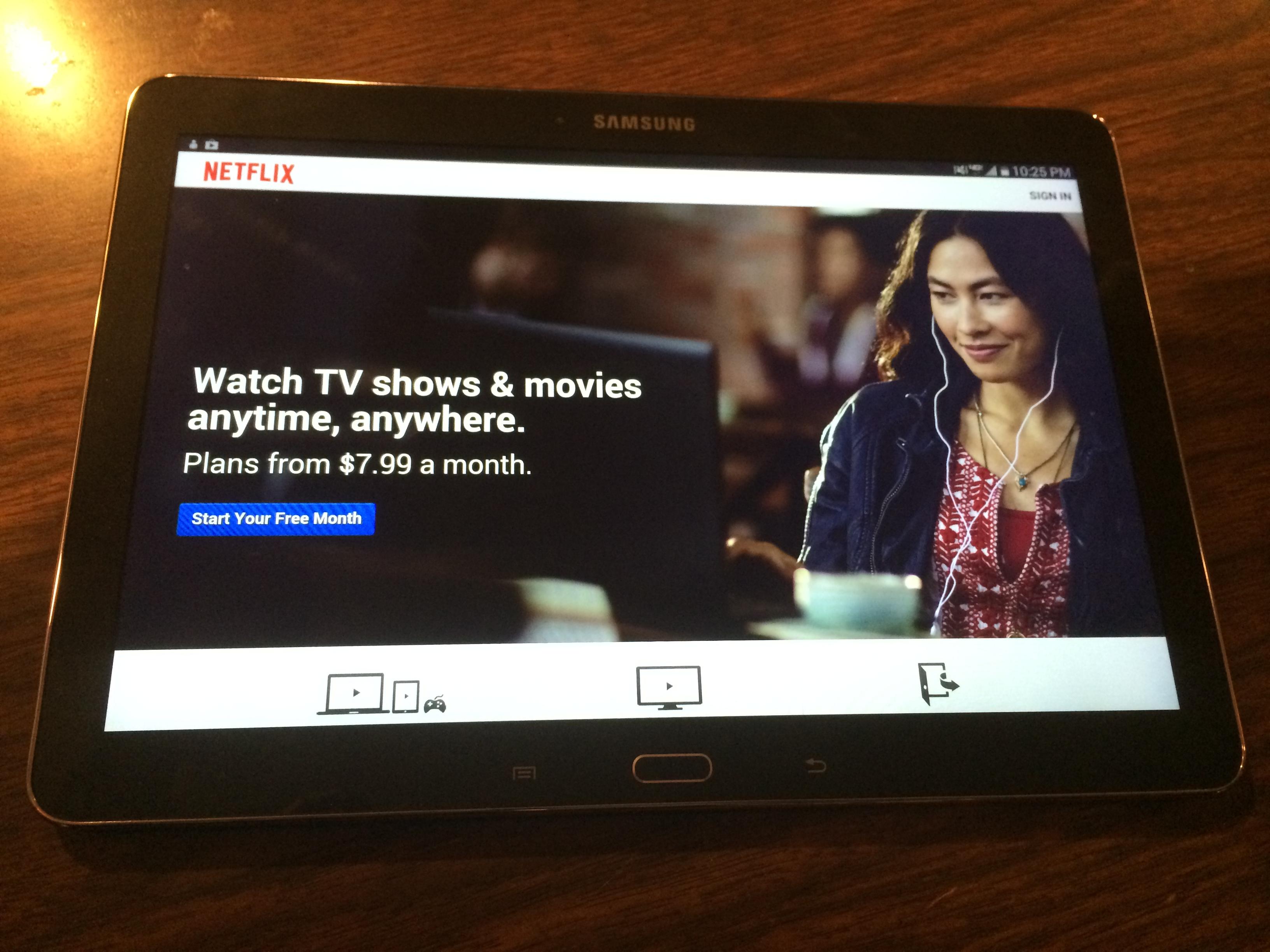 Netflix on Samsung