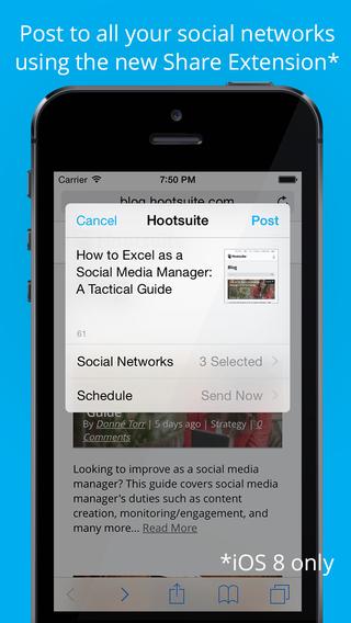 Hootsuite iPhone app